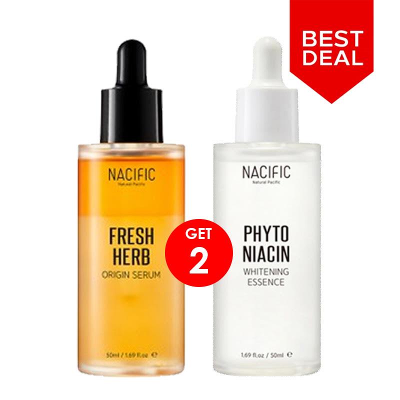 BCA Expoversary Nacific Set 1 - Nacific Fresh Herb Origin Serum + Phyto Niacin Whitening Essence