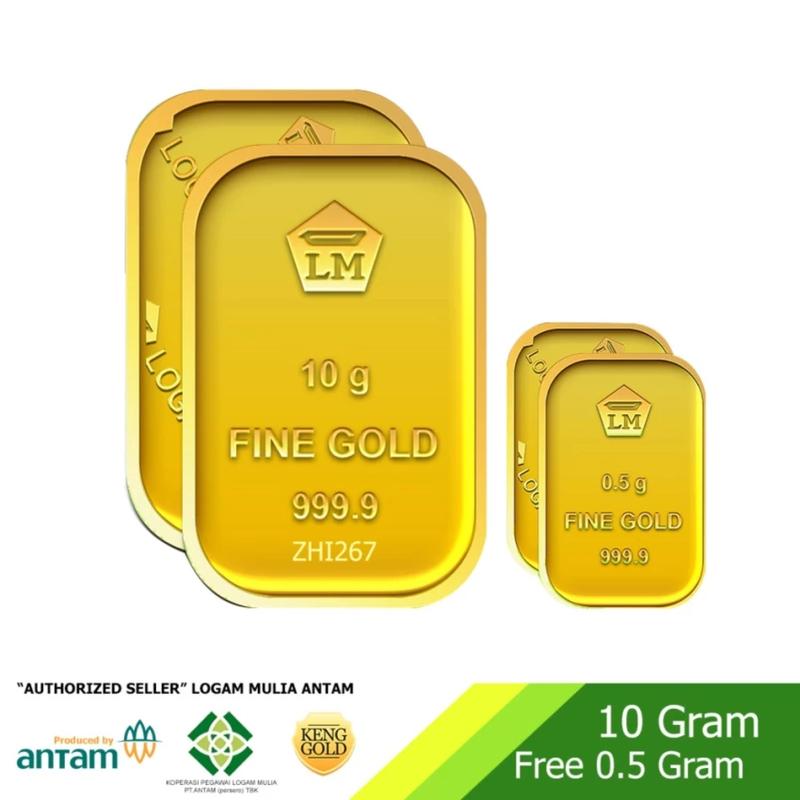 ANTAM Emas 10 Gram dan 0.5 Gram Logam Mulia 999.9 Sertifikat ANTAM