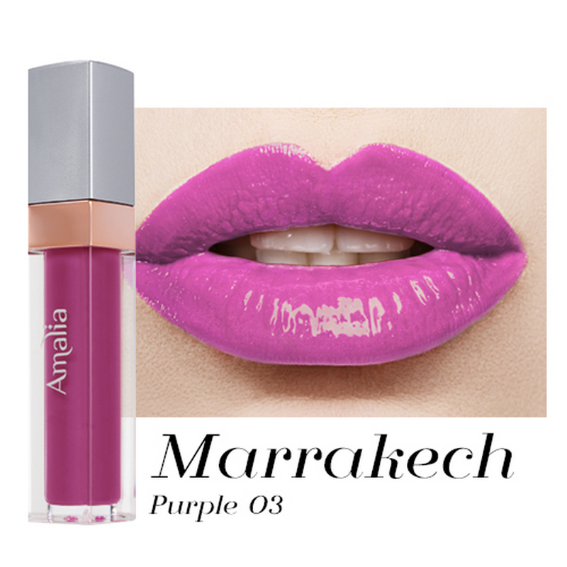 Amalia Glossy Lip Cream Marrakech Purple 03