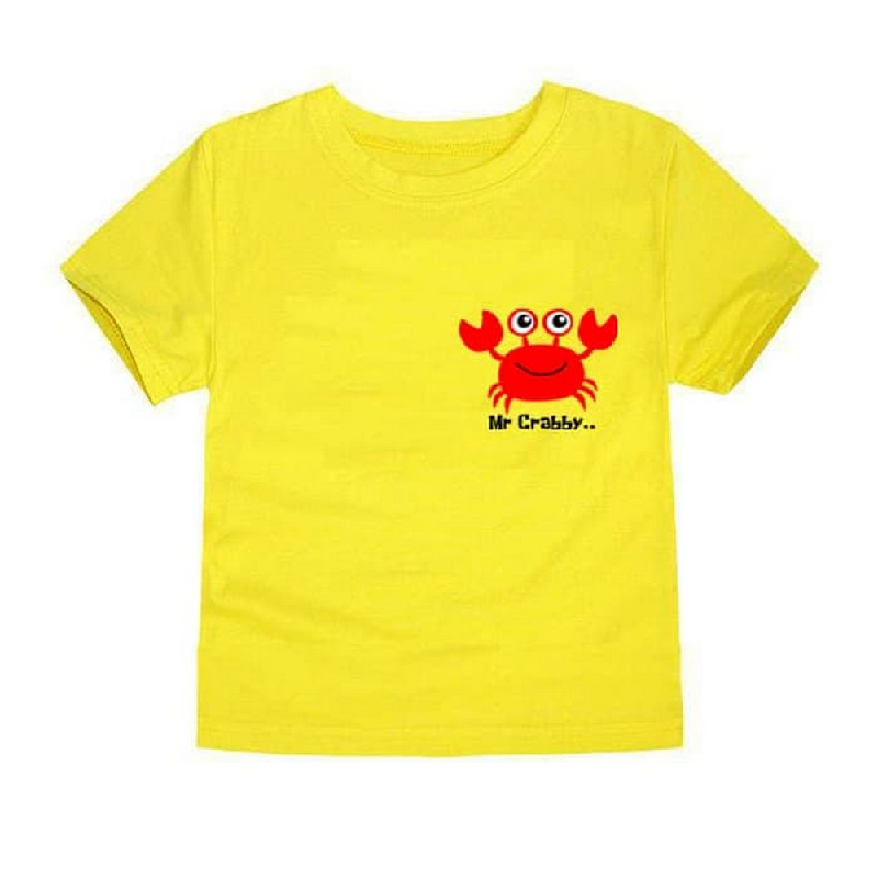 Little Fresco - Kaos Anak Mr Crabby Kuning Yellow