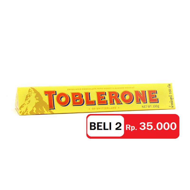 Toblerone Milk 100 Gr (Get 2)