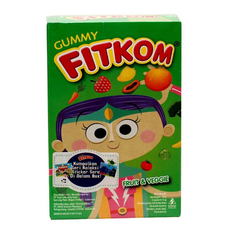 Fitkom Gummy Fruit & Veggie 60gr