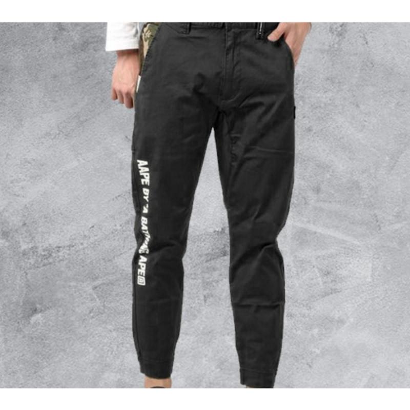 Aape Logo Chino Pants - Black