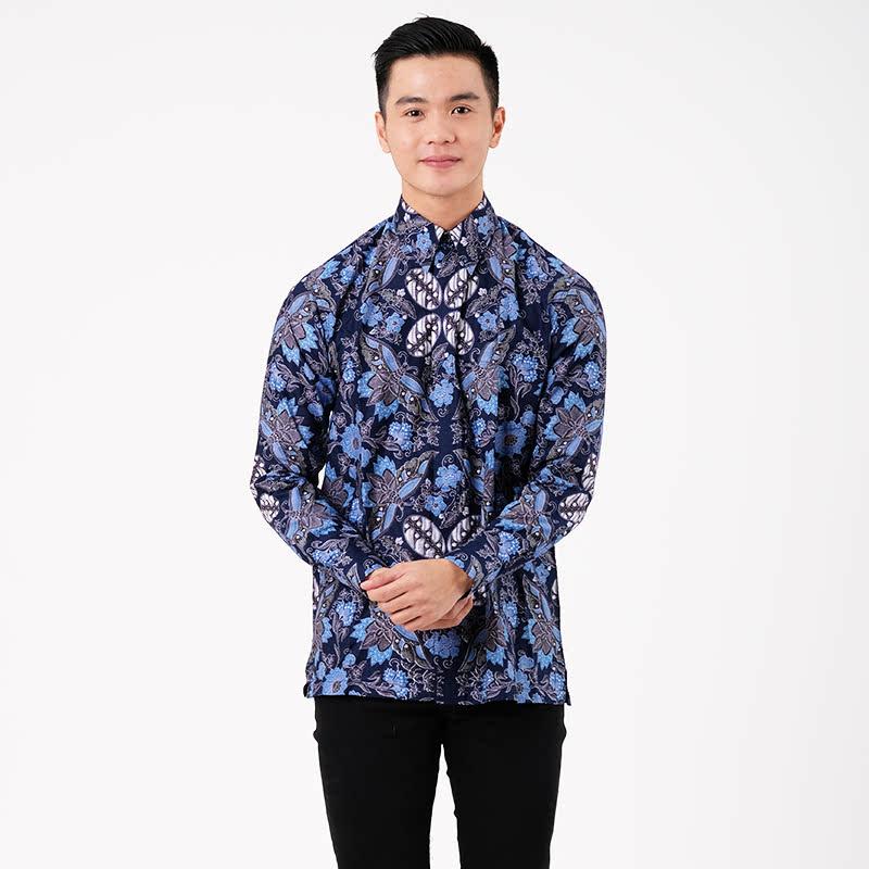Adinata Batik Alaric Hem Panjang Blue