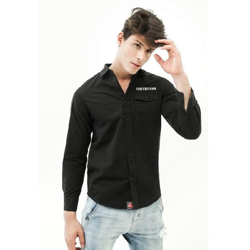 3second Men Shirt 1605 Black