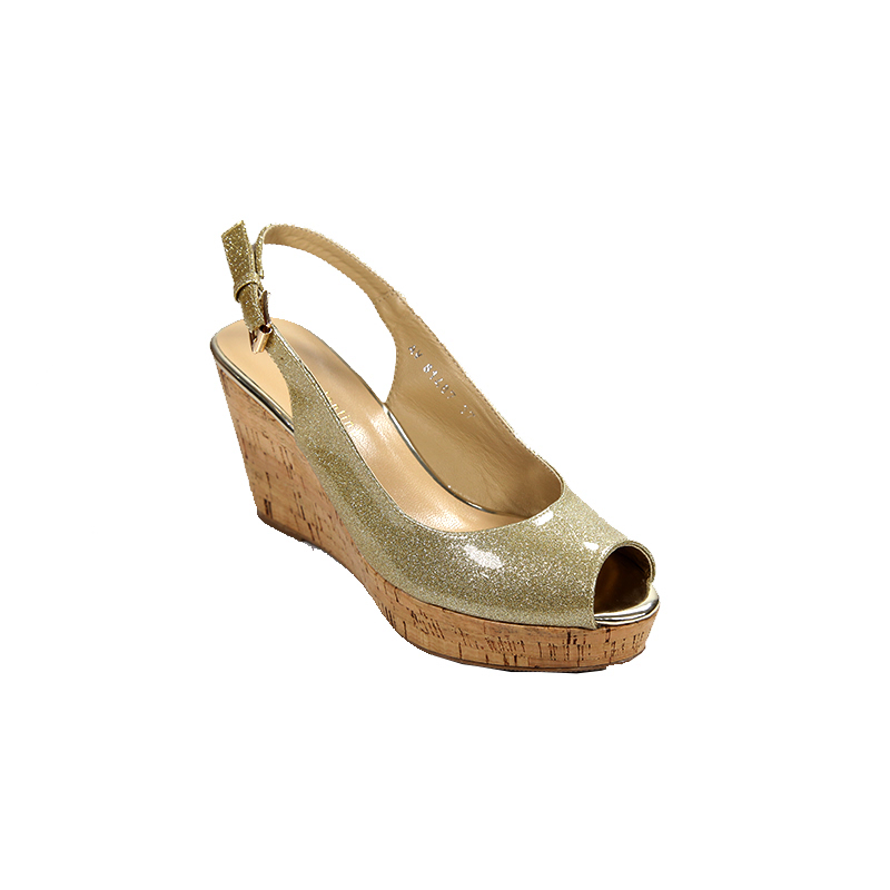 Andre Valentino Wedges Gold