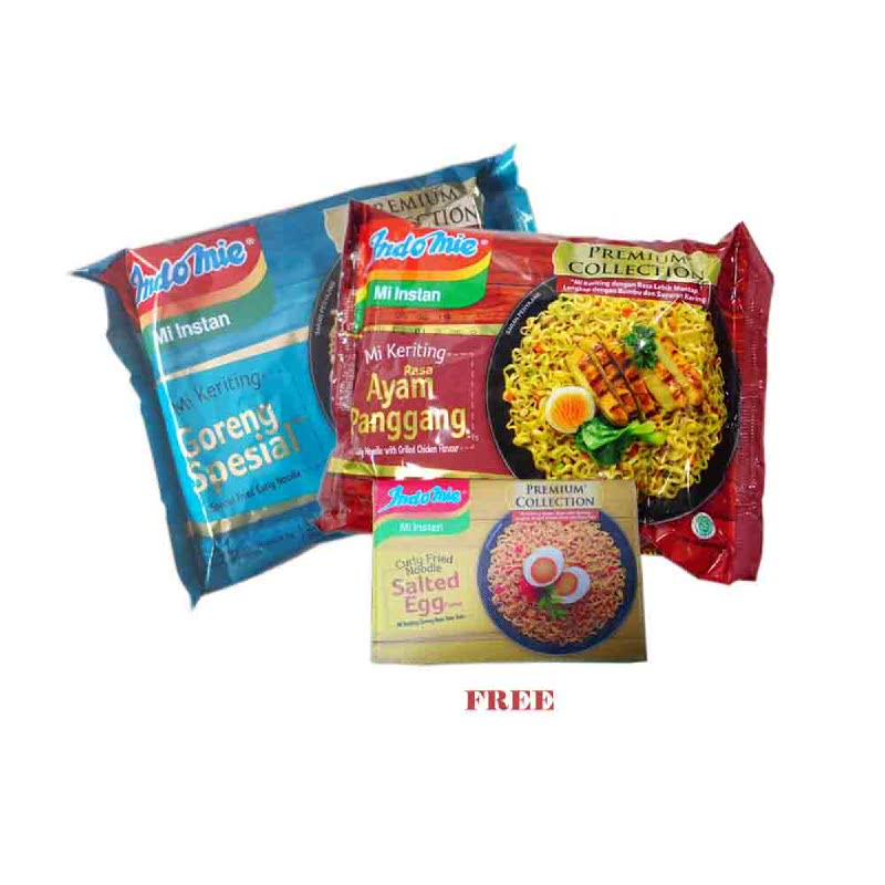 5 Pcs Indomie Goreng Premium Ayam Panggang & 5 Pcs Indomie Goreng Premium Goreng Special Free Passport Holder