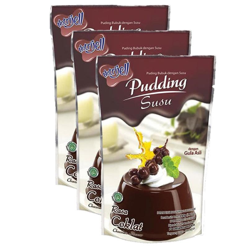 Nutrijell Pudding Susu Coklat 145G (Buy 2 Get 1)