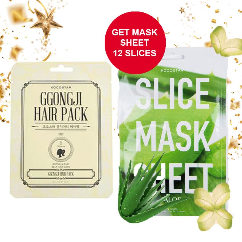 Kocostar Ggongji Hair Pack (Half) + Kocostar Aloe Slice Mask Sheet