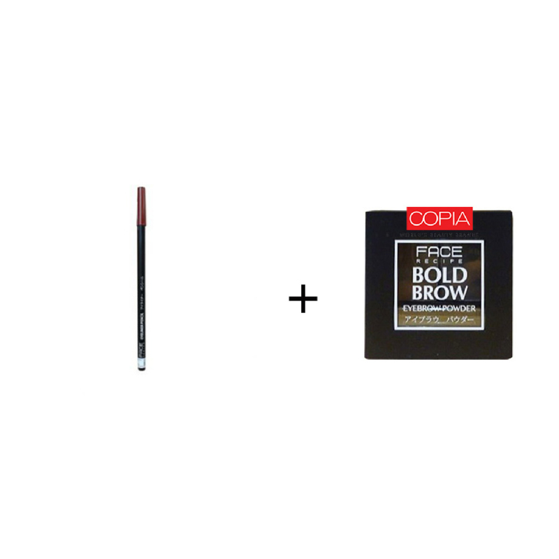 Face Recipe Eyeliner Pencil Bronze Tan +Face Recipe Bold Brow Medium