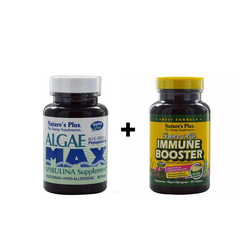 Algae Max - 90 Tablets + SOL ADULT IMMUNE BOOSTER 90 Capsules