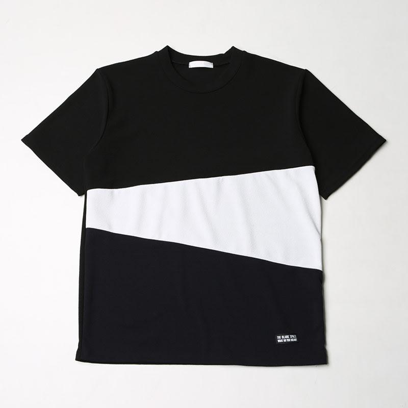 [BJ2651]Triple Coloration Bunddo Short Sleeve T-shirt - Black