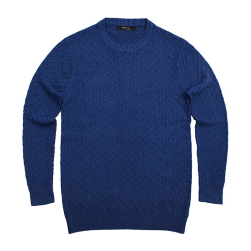 Wool Round Neck Knit - Blue