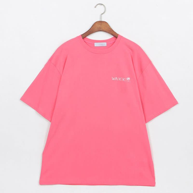 Waikiki Box Fit Short Sleeve T-shirt PINK