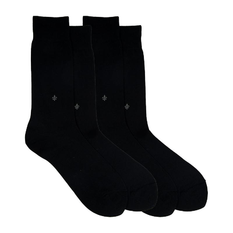 Gunze Men Casual Socks 1Box isi 2 Pasang 0ST11 Black