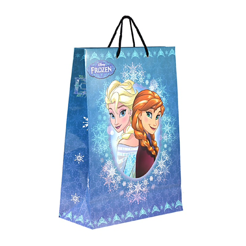 Frozen Winter Anna & Elsa Best Wishes Large Paper Bag