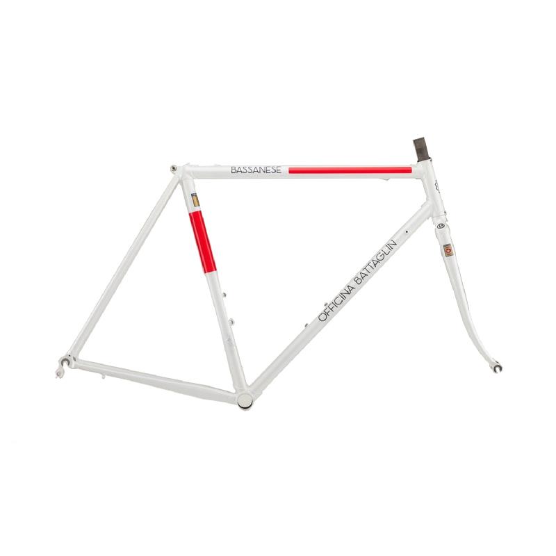 Battaglin Bassanese Steel Frameset White-Red