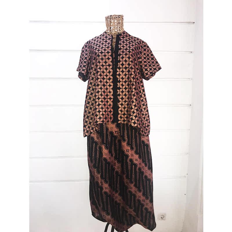 Batik Chic Celana Popok Parang Coklat Hitam