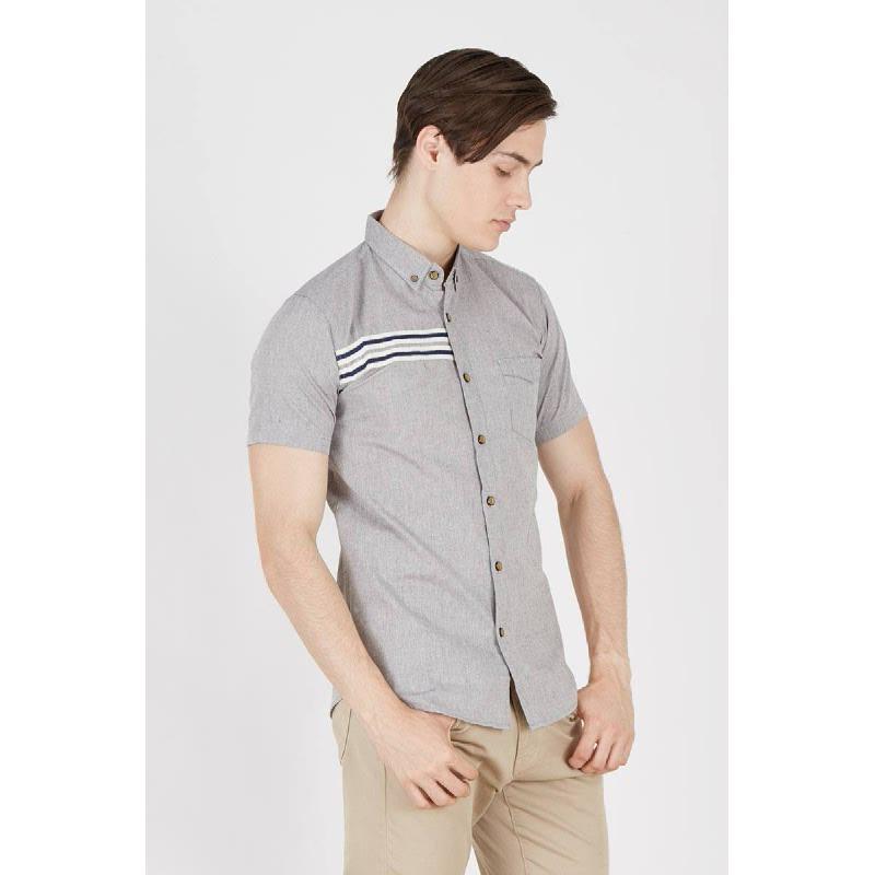 Men Beckle Slim Fit Shirt Grey
