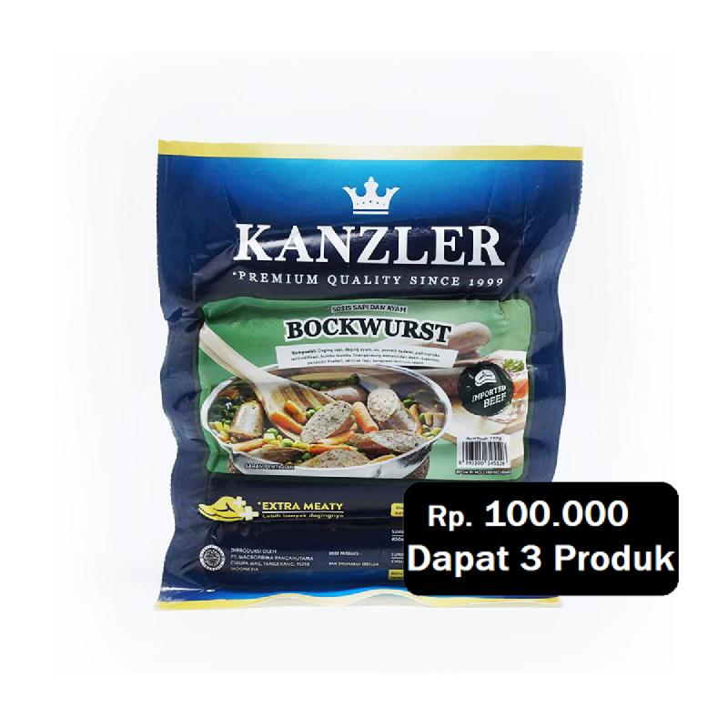 Kanzler Bockwurst 360 Gr (Rp. 100.000 Dapat 3)