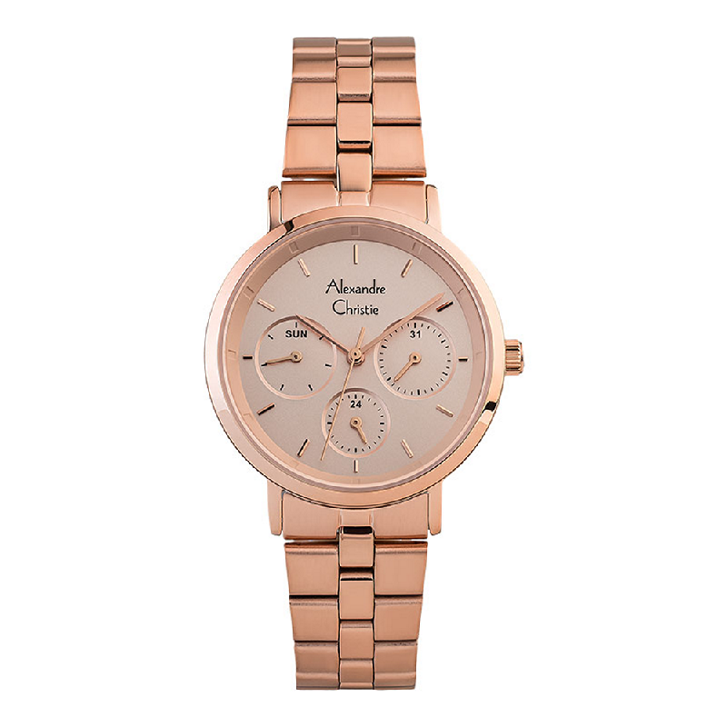 Alexandre Christie AC 2886 BF BRGLN Ladies Rose Gold Dial Rose Gold Stainless Steel Strap