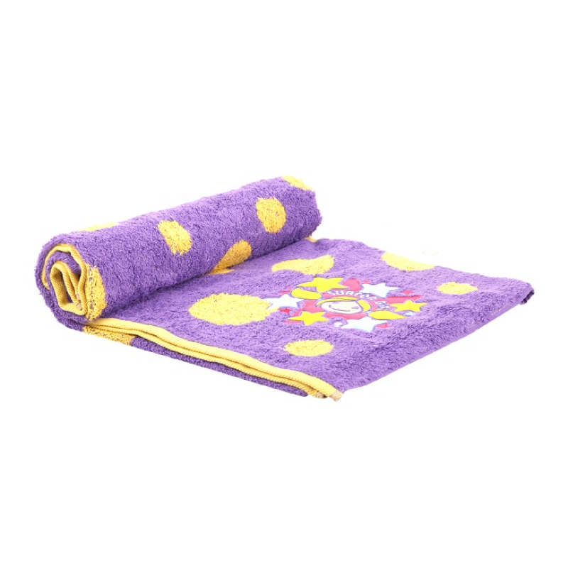 Dot Jacquard Towel Purple