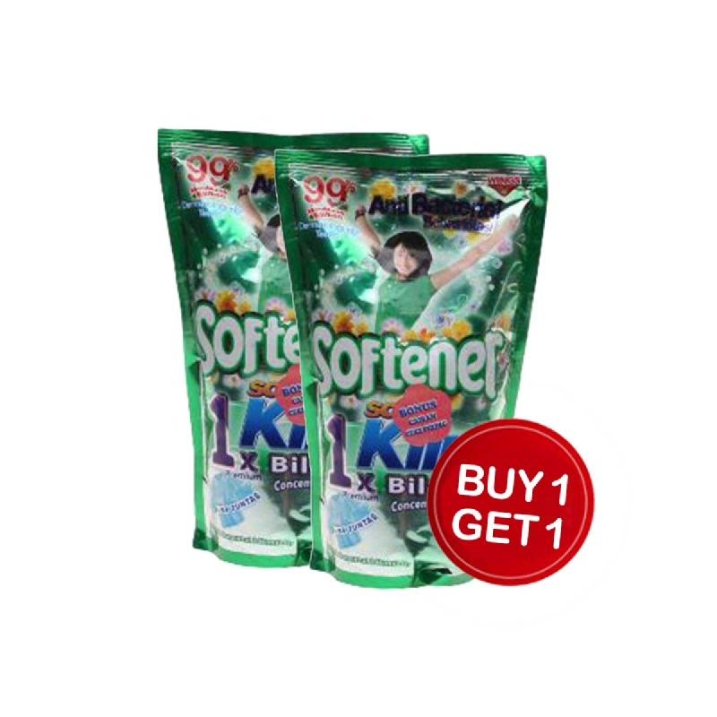 Soklin Softener 1X Bilas Antibacteria Pouch 900 Ml (Buy 1 Get 1)