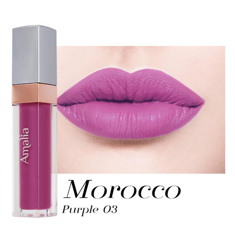 Amalia Matte Lip Cream Morocco Purple 03
