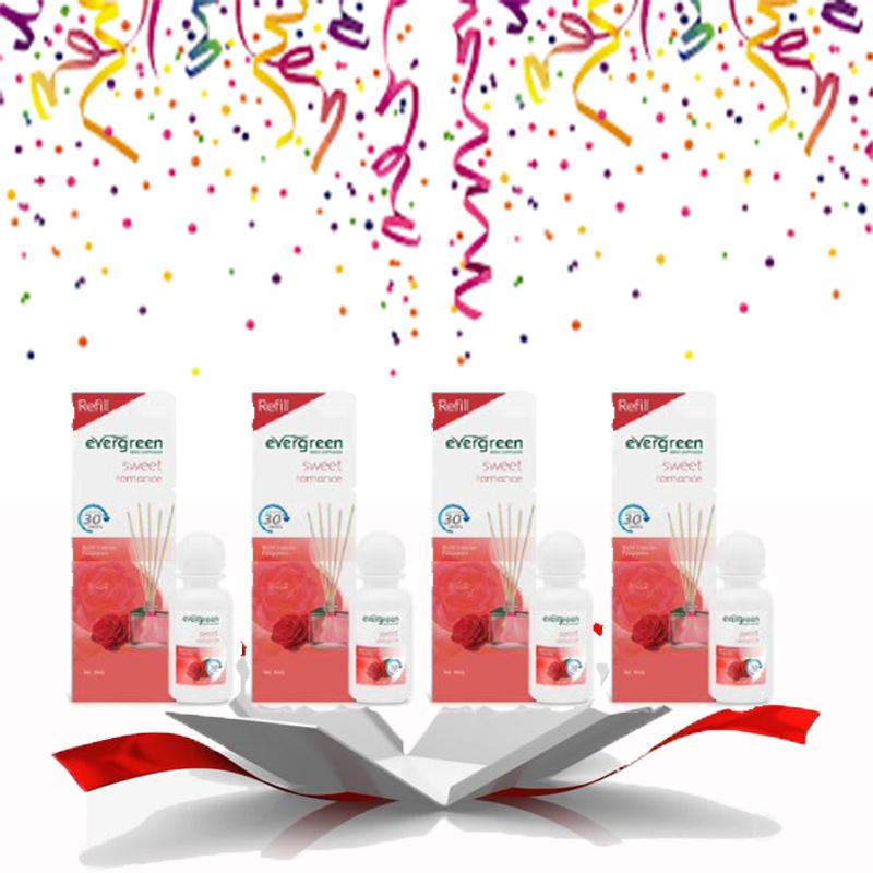 Evergreen Reed Diffuser Reffil Sweet Romance 30 ml (4pcs)