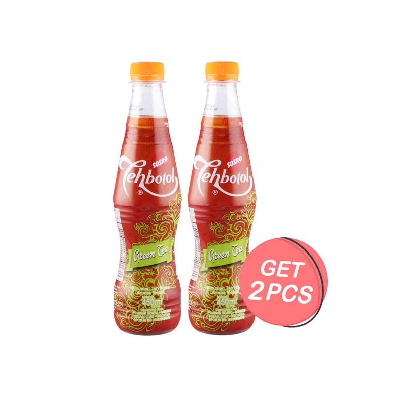 Teh Botol Sosro Green Tea 450 Ml (Get 2)