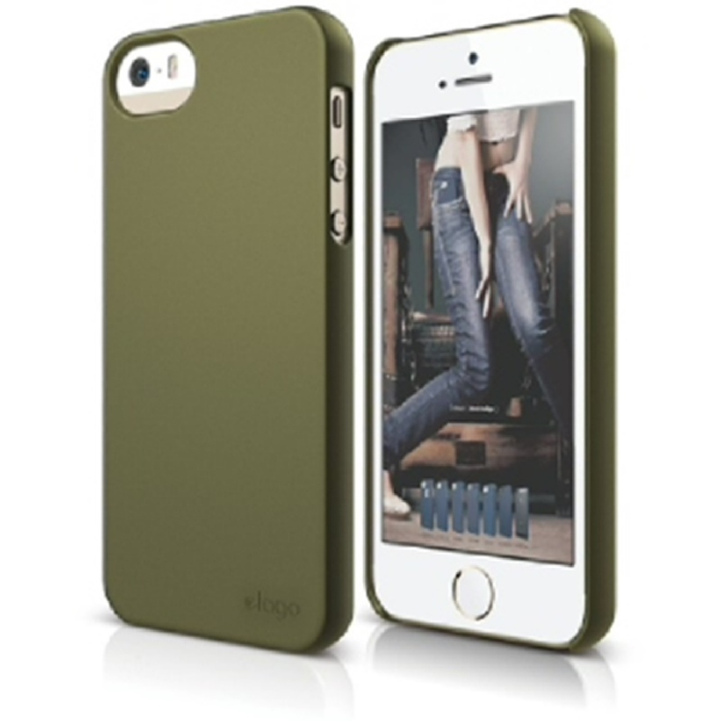 Elago Slimfit 2 Case for iPhone SE, 5, 5S - SF Camo Green