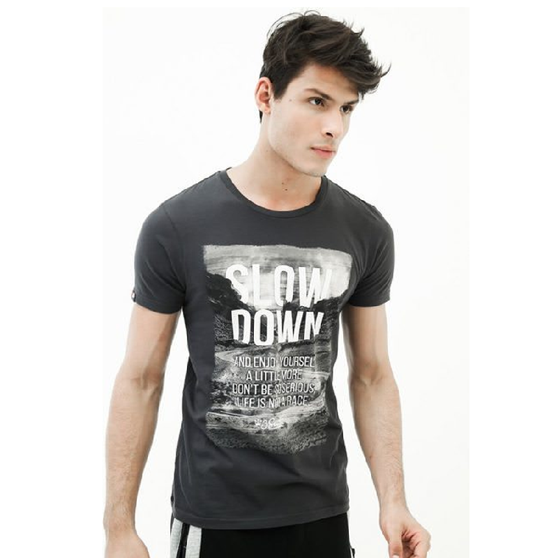 3second Men Tshirt 0603 Grey