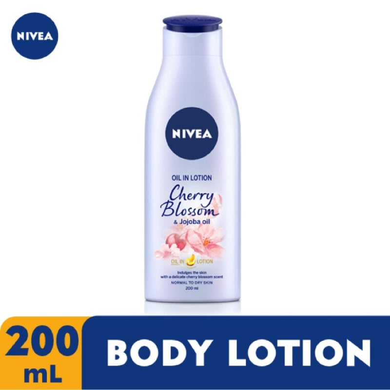 Nivea Body Oil Lotion Cherry Blossom & Jojoba Oil 200 ml
