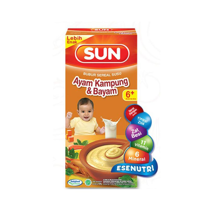 Sun Bubur Sereal Susu Ayam Kampung & Bayam Box 120 Gr