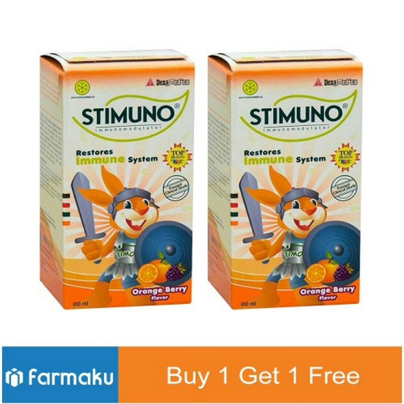 Buy 1 Get 1 Free Stimuno Syrup Orange Berry 100 ml