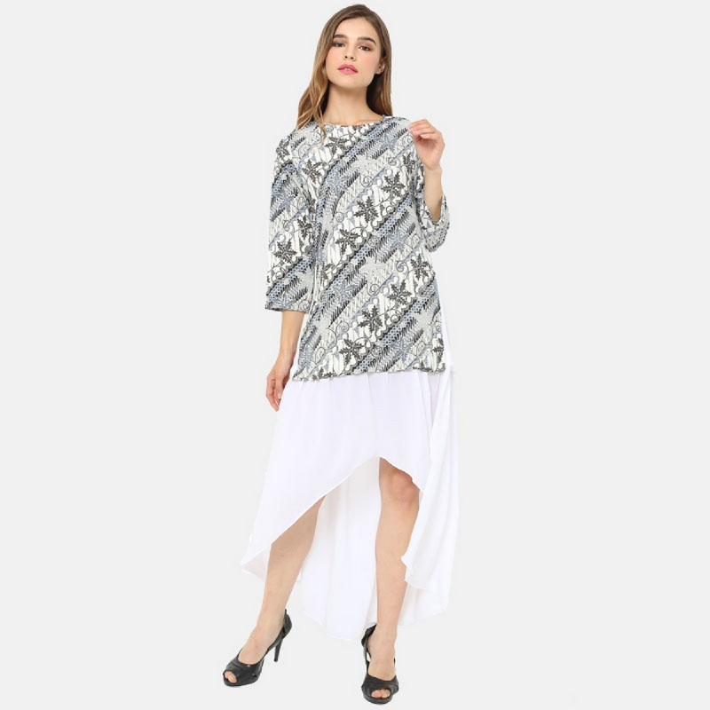 Anakara Layer Dress Parang Ivory White