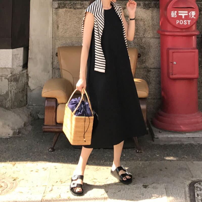 Picnic Dress (2color) - BLACK