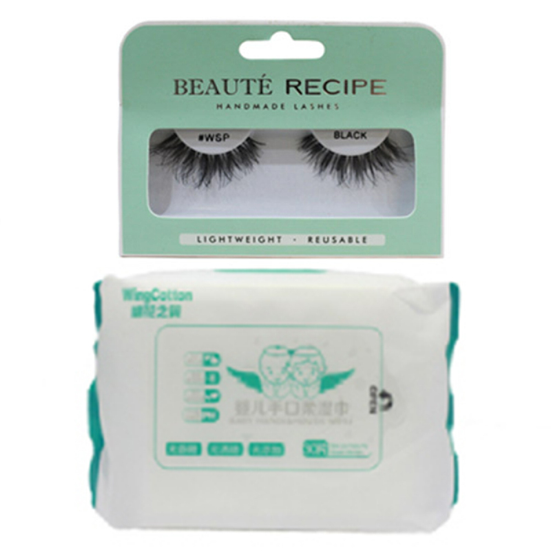 Copia Wingcotton Baby Hands & Mouth Wipes + Copia Beauty Tools Eyelash Wsp Black