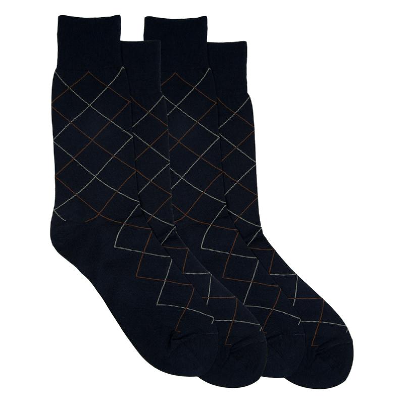 Gunze Men Casual Socks 1 box isi 2 Pasang SG032 Black