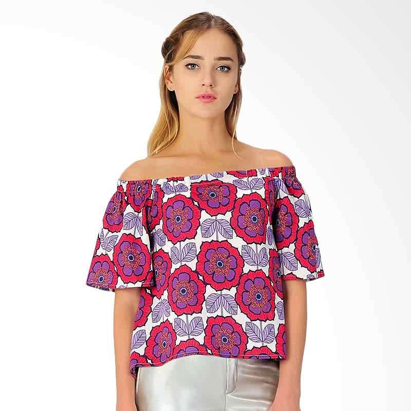 Hamsen Flower Women's Blouse - Magenta