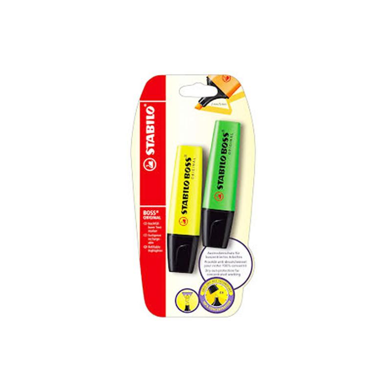 Stabillo Boss Set 2 Yellow-Green