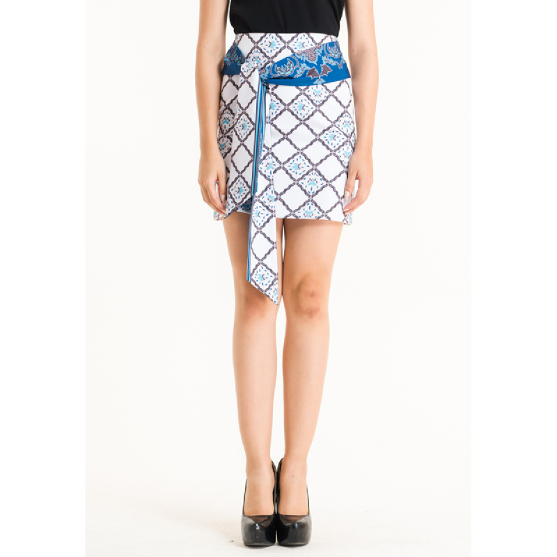 Bateeq Women Regular Cotton Print Skirt FL005E-SS18 Cream