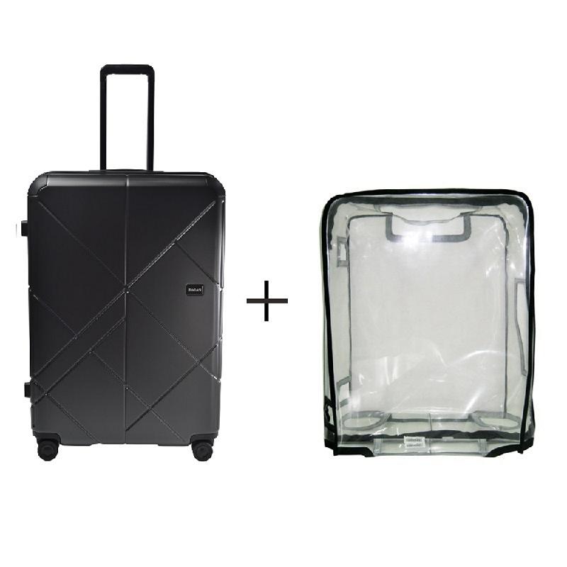 Bagasi Jasper Koper Hardcase Large 29 Inch Black + Luggage Cover Large