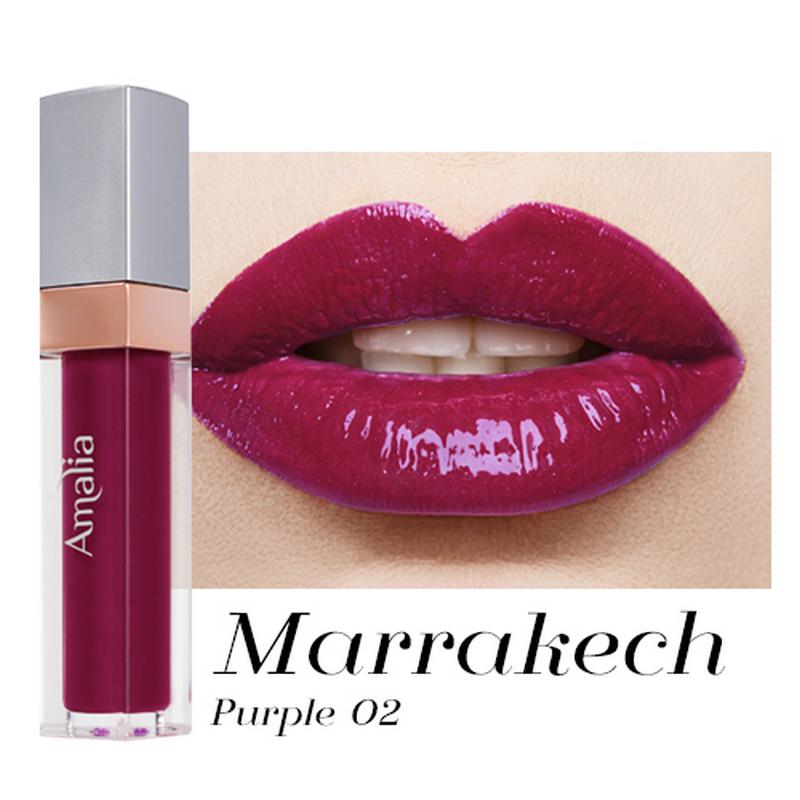 Amalia Glossy Lip Cream Marrakech Purple 02