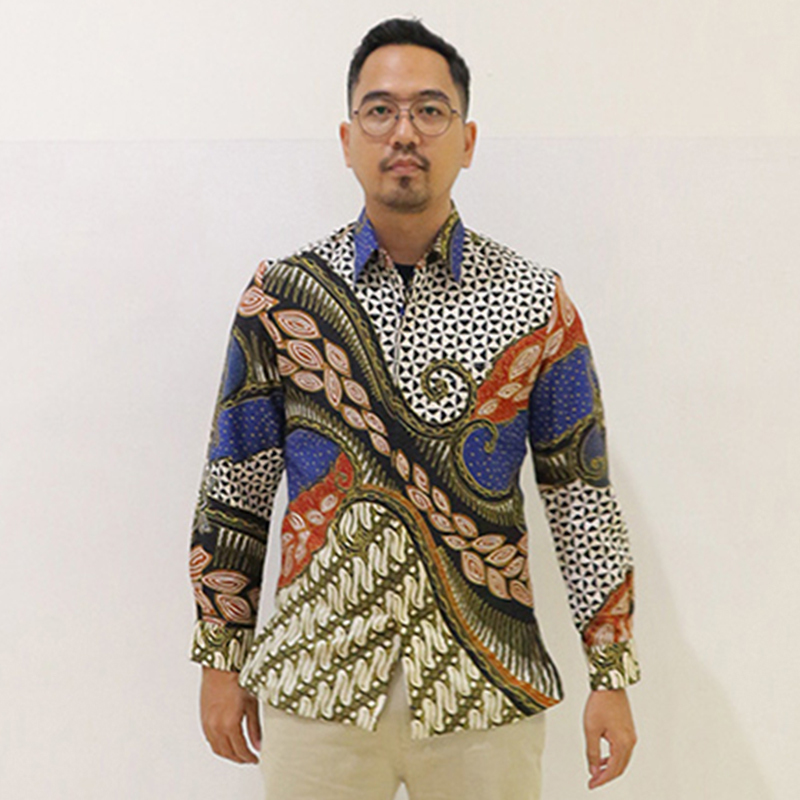Batik Semar Pria Hem Panjang Fr Kol Db 45 Rfp Lampah Pahargian Bs 20 M