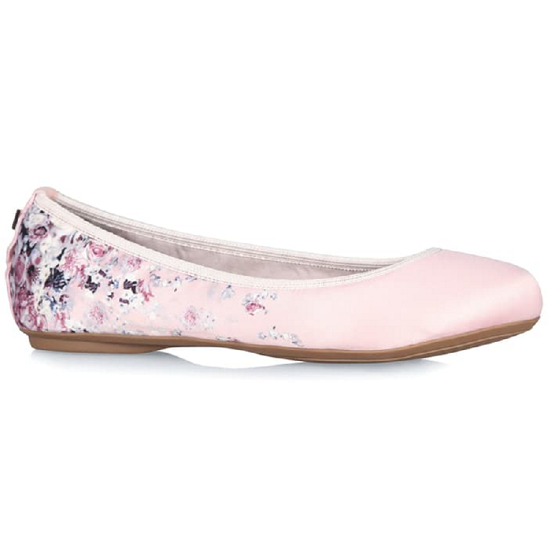 Butterfly Twist Flat Shoes Sophia Scattered Floral Blush Pink
