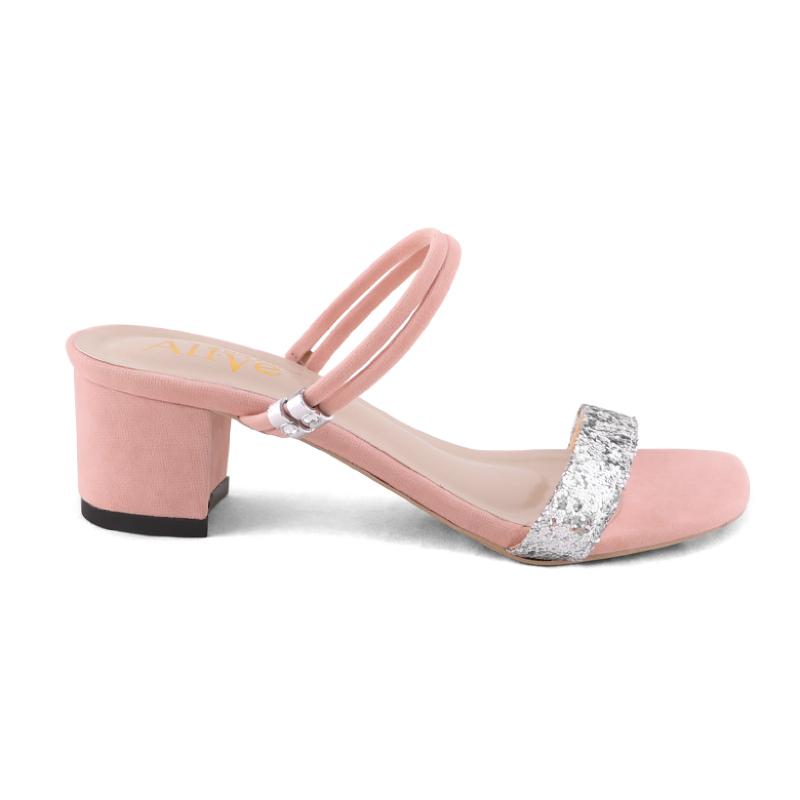 AliveLoveArts Kara Sandals Heels Peach