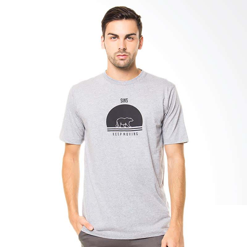 Keep Moving T-Shirt - Misty Grey