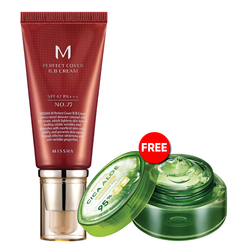 Missha BB Cream 50ml No. 27 + Aloe Gel