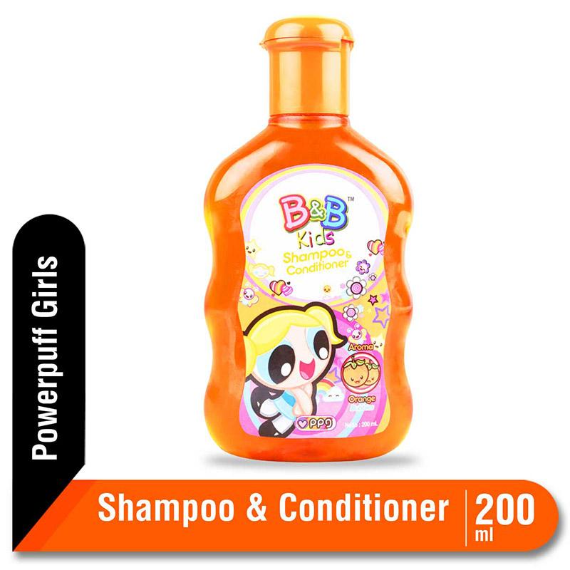 B&B Kids Shampoo and Conditioner Orange 200 Ml